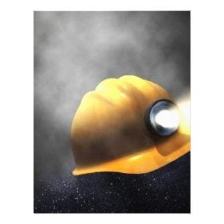 gorra de los mineros de carbón membrete