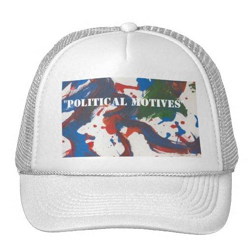 """, gorra de los """"motivos políticos"""""""