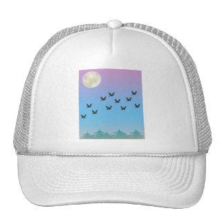 Gorra de los pájaros de vuelo