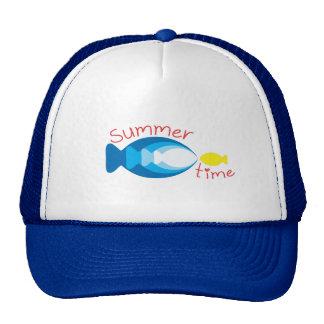 Gorra de los pescados del tiempo de verano