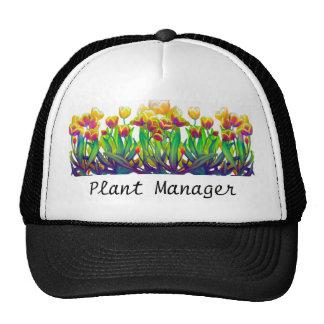 Gorra de los tulipanes del director de planta