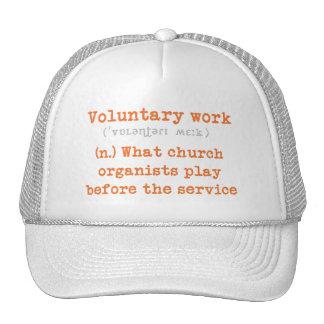 Gorra de los voluntarios del organista
