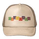 Gorra de madera de los bloques del vintage de SUPE