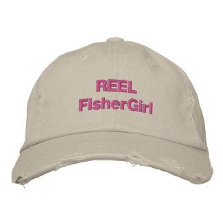 Gorra de moda de FisherGirl del CARRETE Gorros Bordados