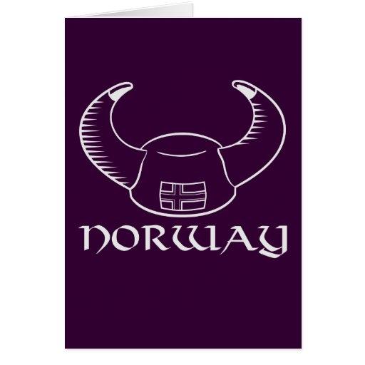Gorra de Noruega Viking Tarjeta De Felicitación