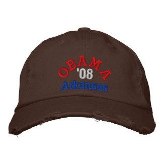 Gorra de Obama '08 Arkansas Gorra De Béisbol Bordada