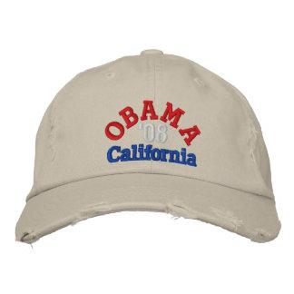 Gorra de Obama '08 California Gorro Bordado