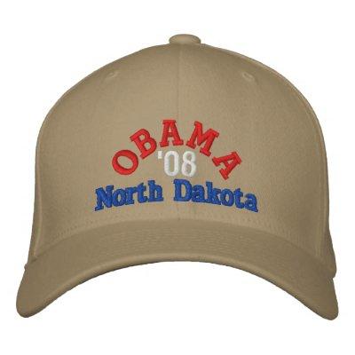 Gorra de Obama '08 Dakota del Norte Gorra Bordada