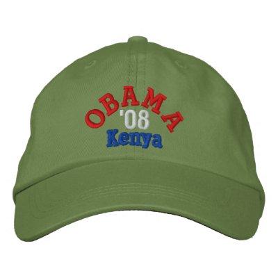 Gorra de Obama '08 Kenia Gorra Bordada