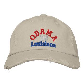 Gorra de Obama '08 Luisiana Gorra De Béisbol Bordada