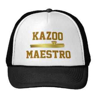 Gorra de oro de los músicos del instrumento musica