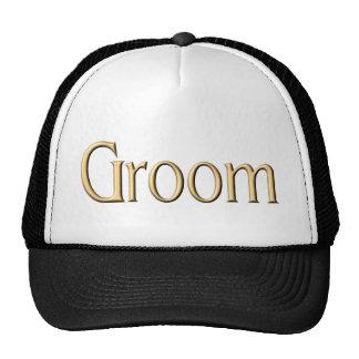 Gorra de oro del novio
