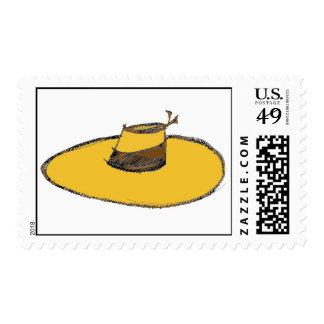 gorra de paja franqueo