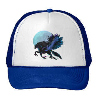 Gorra de Pegaso negro y de la luna azul
