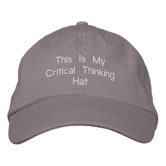 Gorra de pensamiento crítico gorras bordadas