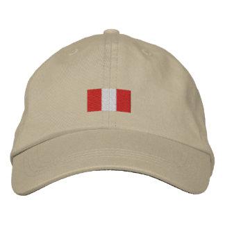 Gorra de Perú - bandera peruana Gorra De Béisbol Bordada