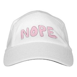 """Gorra de punto, blanco y rosa de """"NOPE"""" Gorra De Alto Rendimiento"""