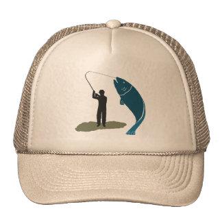 Gorra de salto del pescador y de los pescados de l