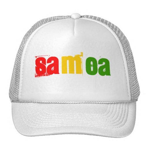 Gorra de Samoa en colores del reggae