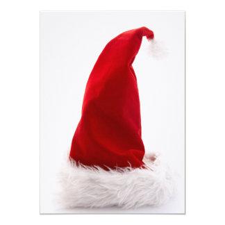 """Gorra de Santa contra blanco Invitación 5"""" X 7"""""""