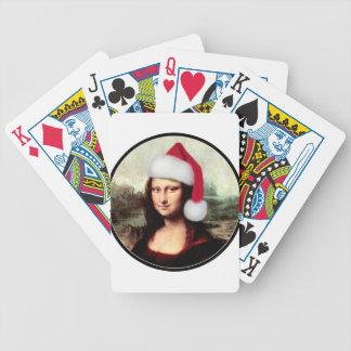Gorra de Santa de Mona Lisa Baraja Cartas De Poker