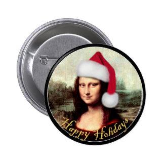 Gorra de Santa de Mona Lisa Pins