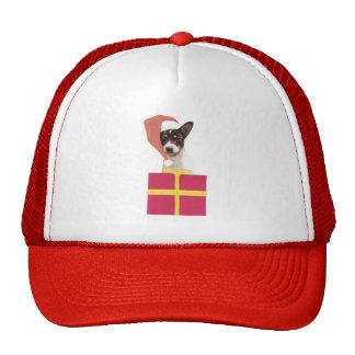 Gorra de Santa del fox terrier del juguete