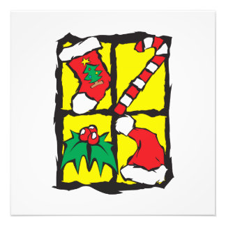 Gorra de Santa del muérdago del bastón de caramelo Cojinete