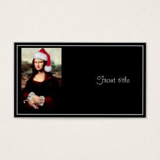 Gorra de Santa del navidad de Mona Lisa Tarjeta De Negocios