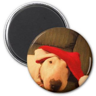 gorra de santa del navidad del merra imán de frigorífico