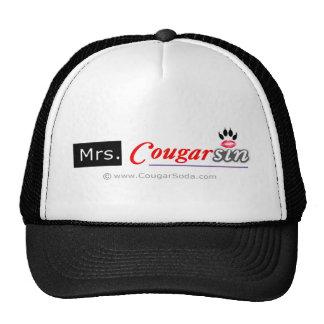 Gorra de señora Cougarsin (logotipo negro y rojo)