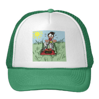 Gorra de siega del césped del dibujo animado