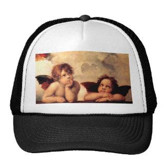 Gorra de Sistine Madonna de las querubes de Raphae