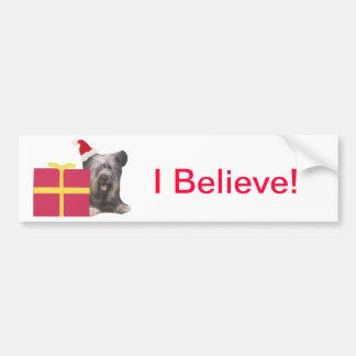 Gorra de Skye Terrier Santa Pegatina Para Auto