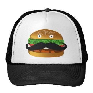 Gorra de Sr. Burger Man Mustache Trucker