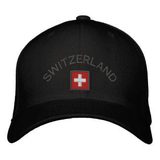 Gorra de Suiza con la bandera suiza Gorra Bordada