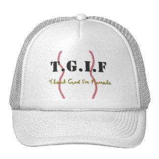 Gorra de TGIF con cita divertida