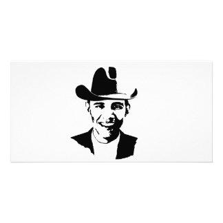 Gorra de vaquero de Barack Obama Tarjetas Personales Con Fotos