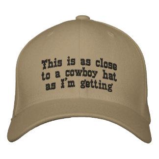 Gorra de vaquero gorra de béisbol