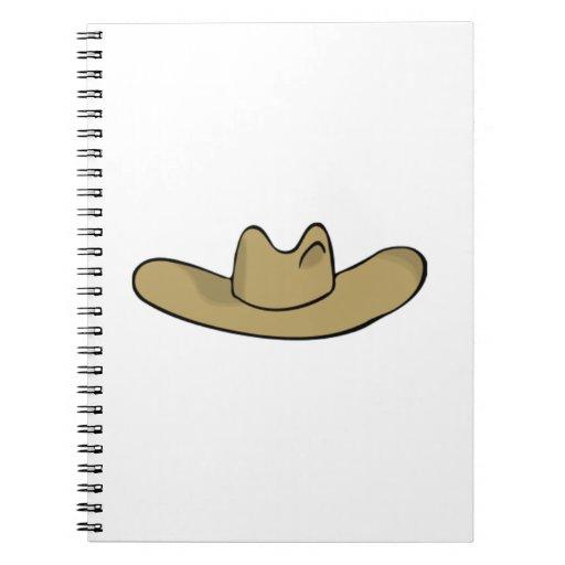 Gorra de vaquero libro de apuntes con espiral