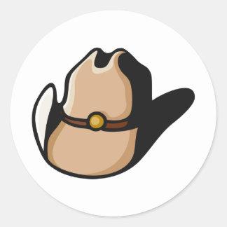 Gorra de vaquero pegatina redonda