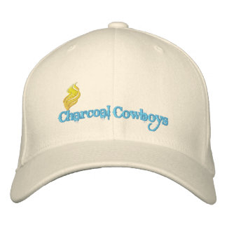 Gorra de vaqueros del carbón de leña gorra de béisbol