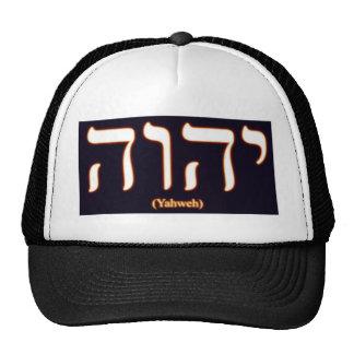 Gorra de Yahweh (escrito en hebreo)