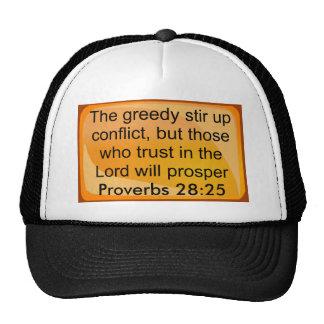 gorra del 28:25 de los proverbios