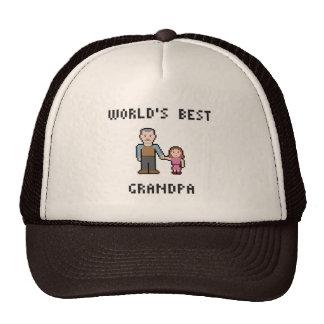 Gorra del abuelo del mundo del pixel el mejor