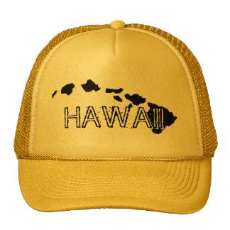 Gorra del amarillo del negro de las islas de Hawai