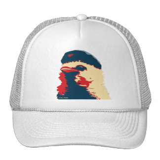 Gorra del amarillo del rojo azul del pájaro de Che