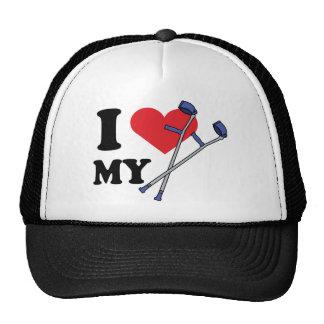 Gorra del amor de la muleta