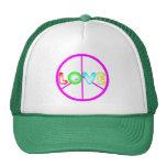 gorra del amor de la paz