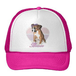 Gorra del amor de perrito del boxeador